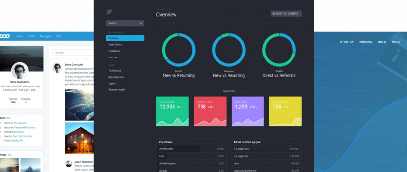 20 Templates Bootstrap cho Admin Dashboard miễn phí